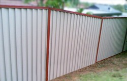Colorbond Raked Fence