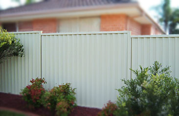 Colorbond Stepped Fence