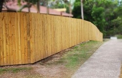 Lapped Pailing Timber Fence