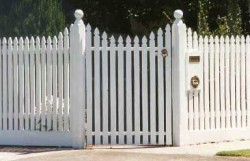 White Timber Picket Fence